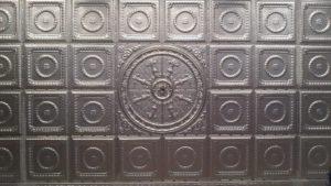 unpainted ceiling tiles